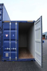 Blue Conex Box Doors